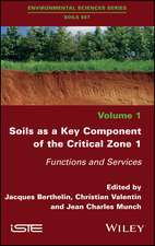 Soils as a Key Component of the Critical Zone 1: Functions and Services