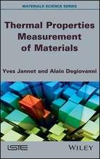 Thermal Properties Measurement of Materials