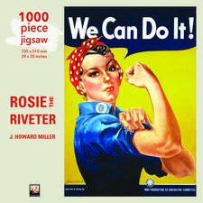 Adult Jigsaw Puzzle J Howard Miller: Rosie the Riveter Poster: 1000-piece Jigsaw Puzzles