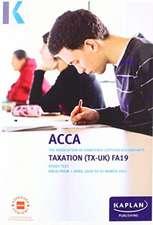 TAXATION (TX-UK) (FA19) - STUDY TEXT