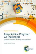 Amphiphilic Polymer Co-Networks: Synthesis, Properties, Modelling and Applications