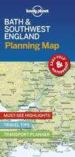 Lonely Planet Bath & Southwest England Planning Map