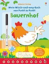 Mein Wisch-und-weg-Buch von Punkt zu Punkt: Bauernhof