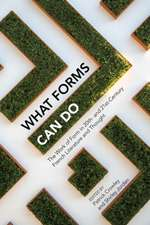 What Forms Can Do: The Work of Form in 20th- And 21st- Century French Literature and Thought