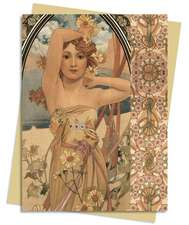 The Times of the Day (Mucha) Greeting Card: Pack of 6