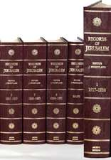 Records of Jerusalem 1917–1971 9 Volume Hardback Set