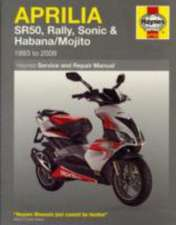 Aprilia SR50, Rally, Sonic & Habana/Mojito Scooters (93 - 09) Haynes Repair Manual