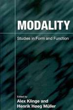 Modality:  Studies in Form and Function