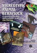 Stereotypic Animal Behaviour:  Fundamentals and Applications to Welfare