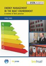Energy Management in the Built Environment