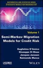 Semi–Markov Migration Models for Credit Risk