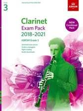 Clarinet Exam Pack 2018-2021, ABRSM Grade 3