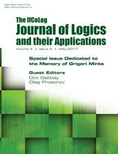 Ifcolog Journal of Logics and Their Applications. Special Issue Dedicated to the Memory of Grigory Mints. Volume 4, Number 4