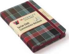 Gordon Red Weathered: Waverley Genuine Tartan Cloth Commonplace Notebook (9cm x 14cm