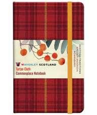 Rowanberry Tartan: Pocket: 14 x 9cm: Scottish Traditions: Waverley Genuine Tartan Cloth Commonplace Notebook