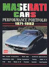 Maserati Cars Performance Portfolio 1971-1982