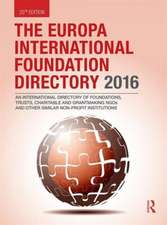 The Europa International Foundation Directory 2016