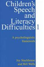 Children′s Speech and Literacy Difficulties, Book1: A Psycholinguistic Framework
