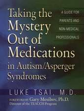 Taking the Mystery Out of Medications in Autism/Asperger's Syndrome
