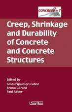 Creep, Shrinkage and Durability of Concrete and Concrete Structures: Concreep 7