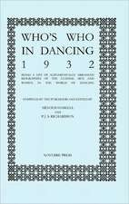 Who's Who in Dancing 1932