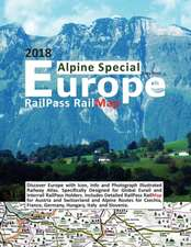 Railpass Railmap Europe - Alpine Special 2018