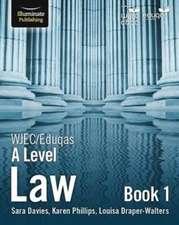 WJEC/Eduqas Law for A Level: Book 1