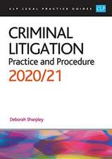Sharpley: Criminal Litigation: 2020/2021