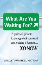 What Are You Waiting For?:  A Practical Guide to Knowing What You Want and Making It Happen...Now
