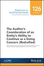 Statement on Auditing Standards, Number 126: The Auditor′s Consideration of an Entity′s Ability to Continue as a Going Concern