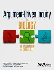 Sampson, V:  Argument-Driven Inquiry in Biology