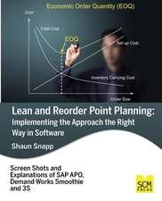 Lean and Reorder Point Planning:  Implementing the Approach the Right Way in Software