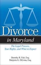Divorce in Maryland