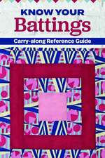 Know Your Battings: Carry-Along Reference Guide