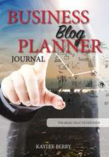 Business Blog Planner Journal - Corporate Bloggers Content Creator