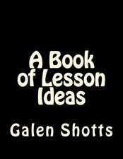 A Book of Lesson Ideas