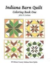 Indiana Barn Quilt Coloring Book One