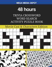 48 Hours Trivia Crossword Word Search Activity Puzzle Book