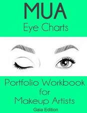Mua Eye Charts Portfolio Workbook for Makeup Artists Gaia Edition