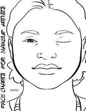 Face Charts for Makeup Artists Sophia