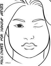 Face Charts for Makeup Artists Stella