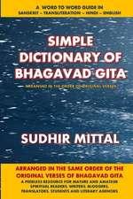 Simple Dictionary of Bhagavad Gita