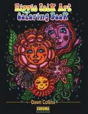 Hippie Folk Art Coloring Book