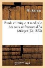 Etude Chimique Et Medicale Des Eaux Sulfureuses D'Ax (Ariege), Precedee D'Une Notice Historique:  Sur Cette Ville Et Suivie de L'Analyse Des Sources Su