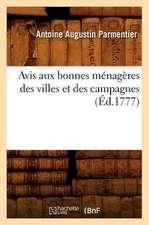 Avis Aux Bonnes Menageres Des Villes Et Des Campagnes