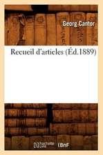 Recueil D'Articles (Ed.1889)
