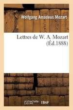 Lettres de W. A. Mozart