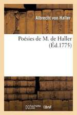 Poesies de M. de Haller