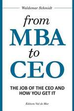 From MBA to CEO
