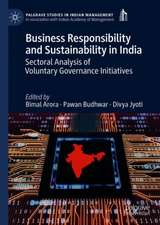Business Responsibility and Sustainability in India: Sectoral Analysis of Voluntary Governance Initiatives